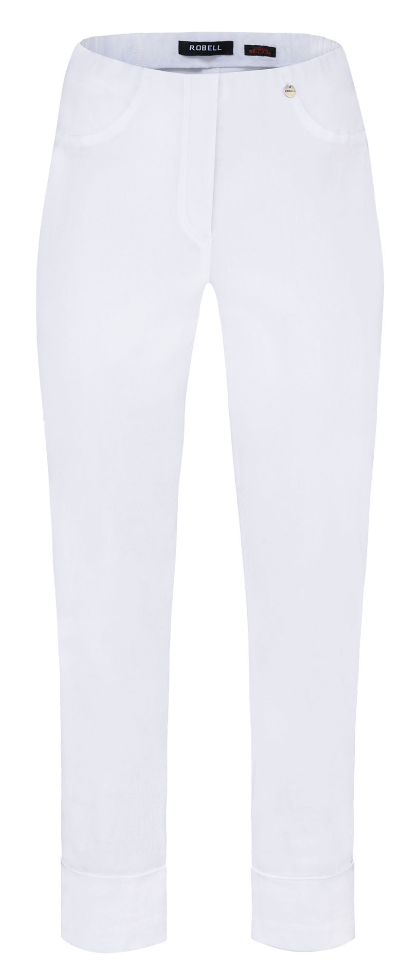 Robell White Cropped Trousers 51568
