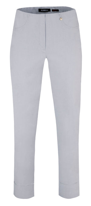 Robell Silver Grey Cropped Trousers 51568