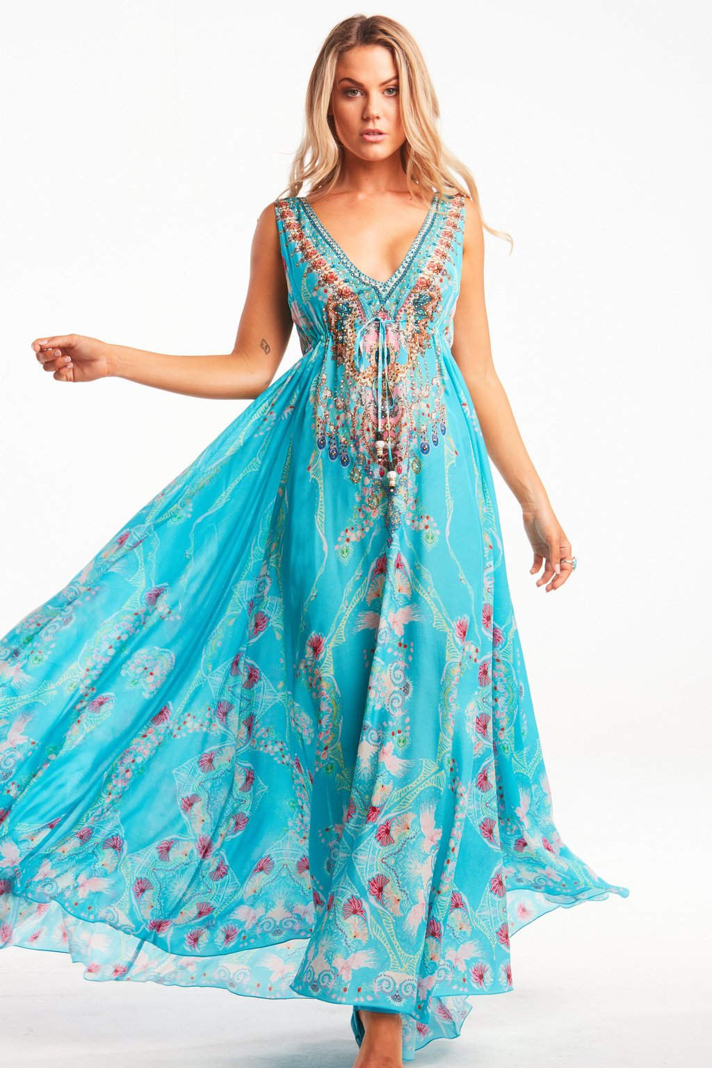 Turquoise Maxi Dress D223