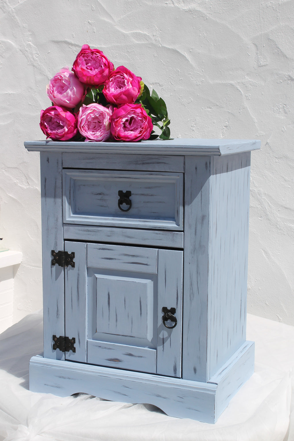 Beautiful Blue Bedside Cabinet