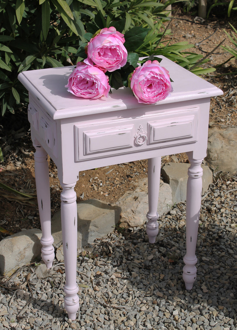 Pink Distressed Occasional Table