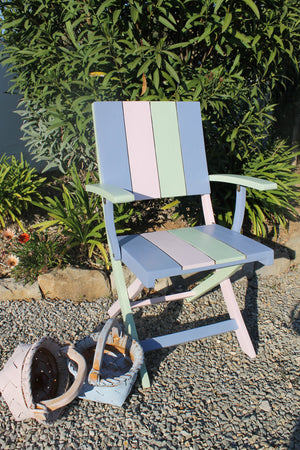 Ice Cream Coloured Wooden Chair in Frenchic Paint