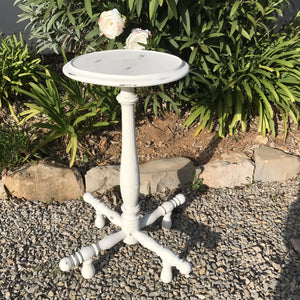 Cream Distressed Occasional Table