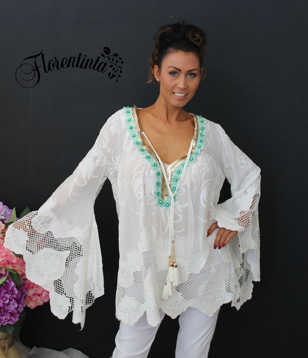 L&J  Lace Cover Up Tunic