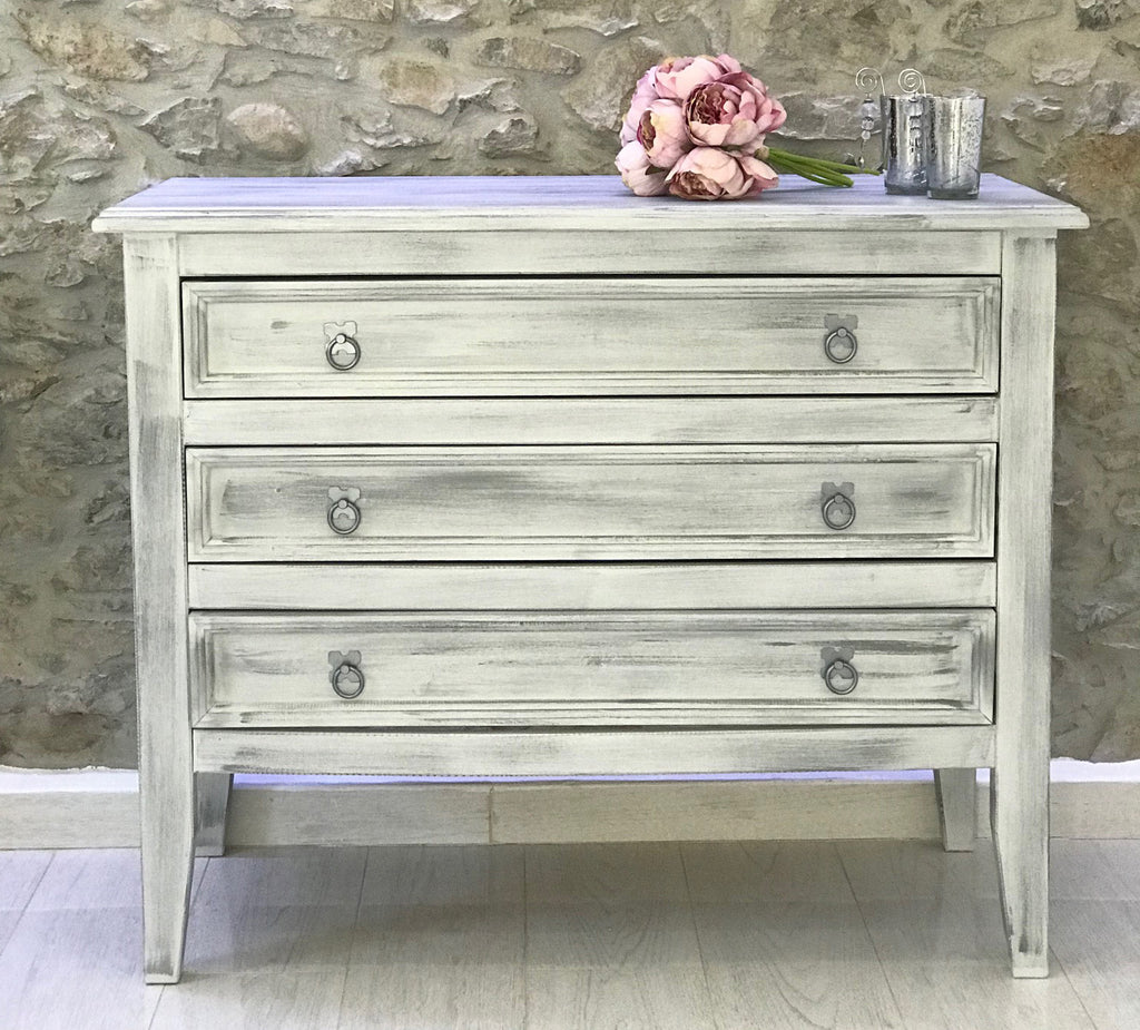 Chest of Drawers in Wolf Whistle and Silver Frenchic