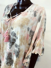 Mele Beach Poncho Pink Marble T247