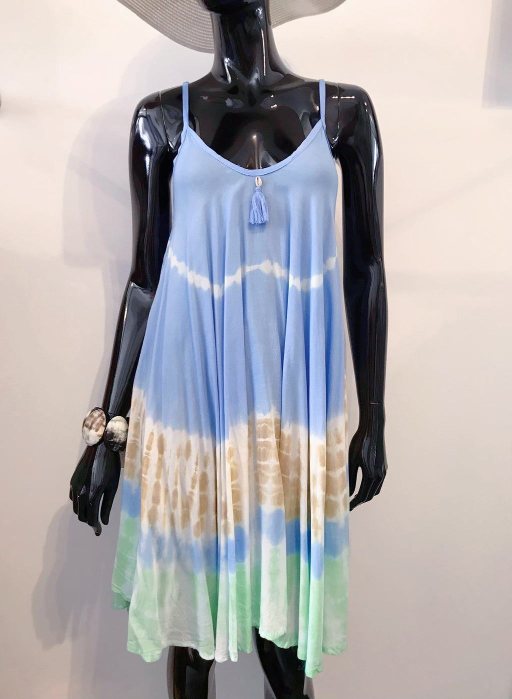 Mele Beach Short blue Tye Dye Dress D212
