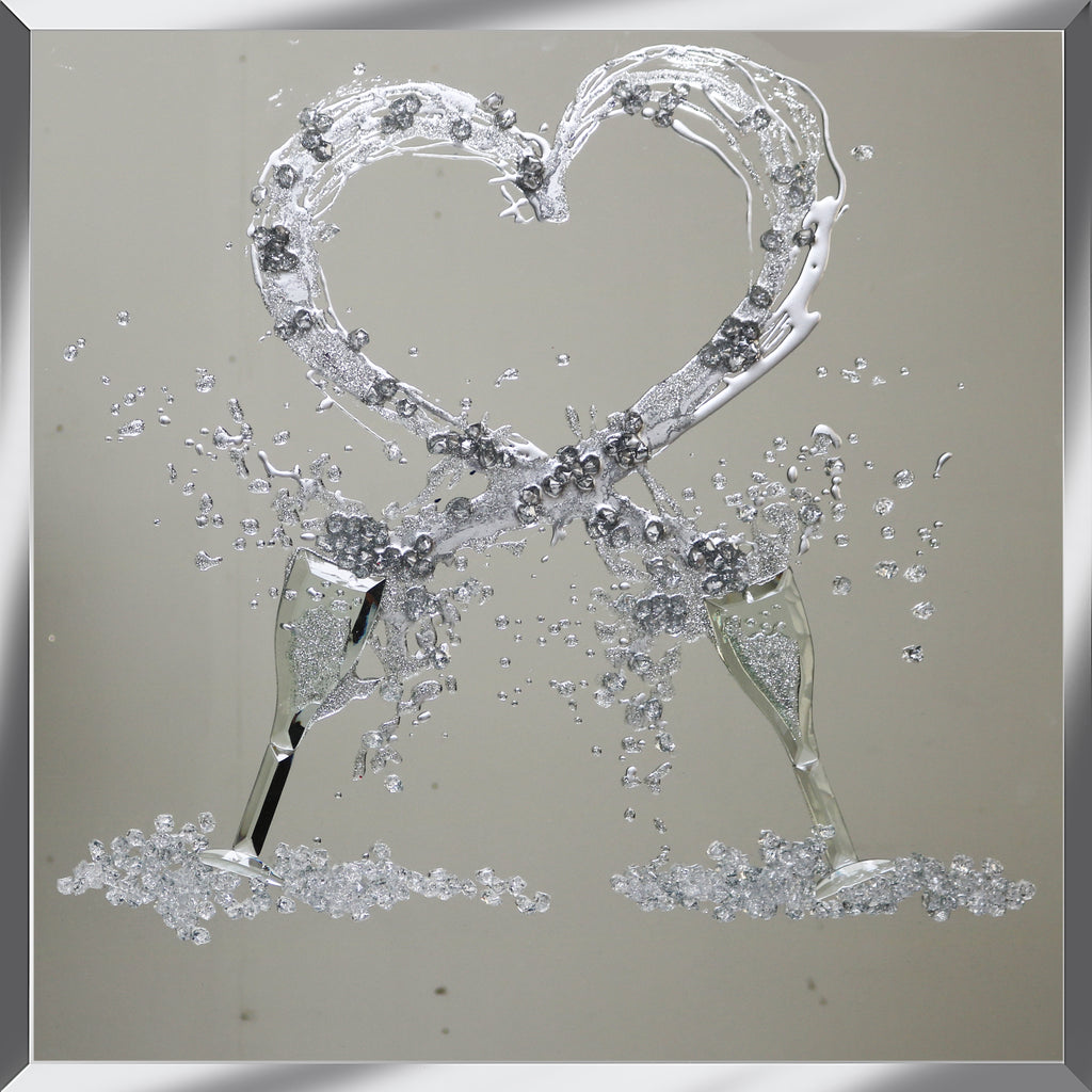 Duo glasses with Heart shaped Splash Mirror M105