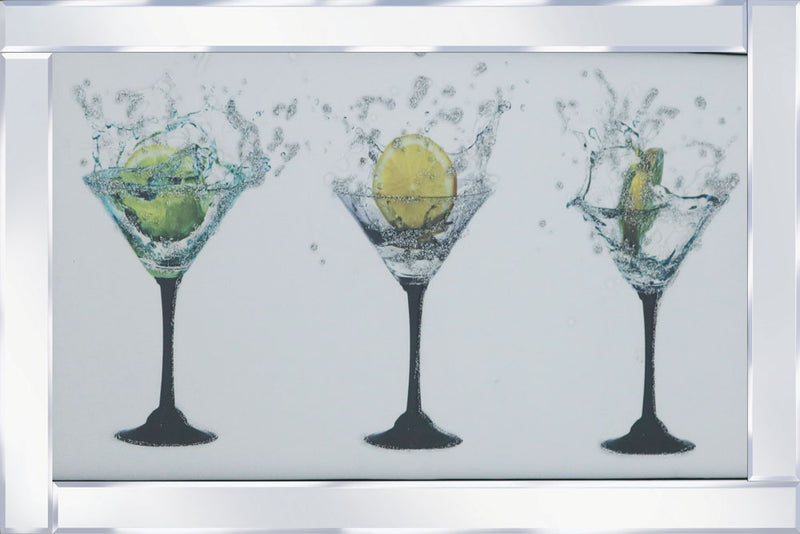 Cocktail Tripple Glasses Mirror M107