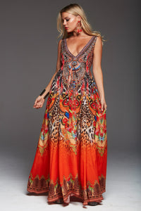 Sunset Maxi Dress D130