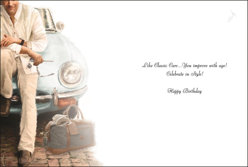Male Birthday (Man Sitting on Car)