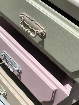 Chest of 4 Drawers in Ice Cream Colours