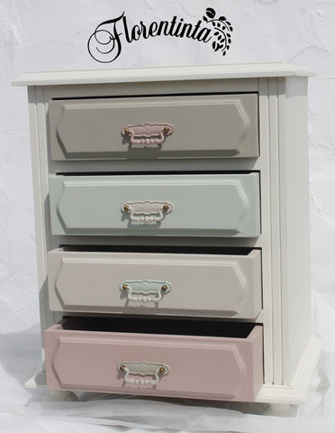 Multi Coloured 4 Drawer Cabinet