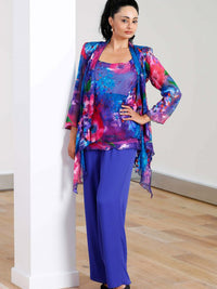 Lewis Henry Royal and Fuscia Trouser Set  FT146