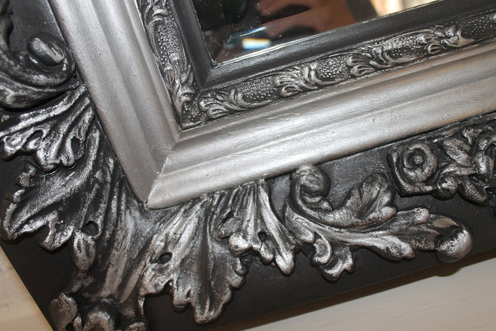 Panther and Silver Ornate Mirror