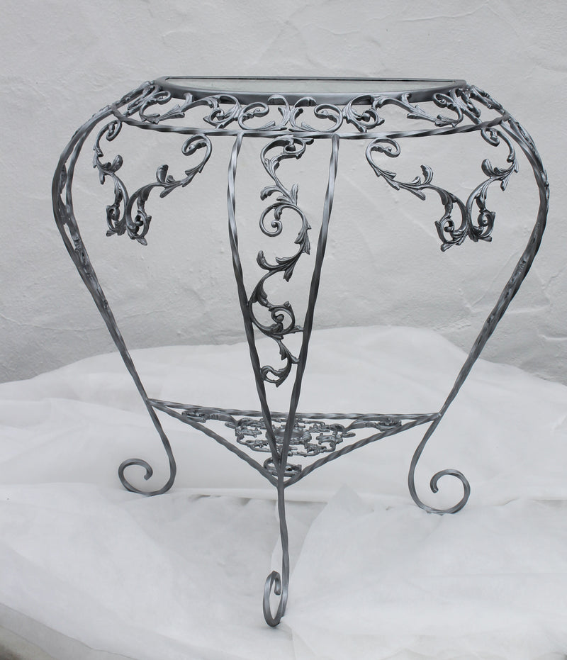 Glass and Gilt Silver Display Table