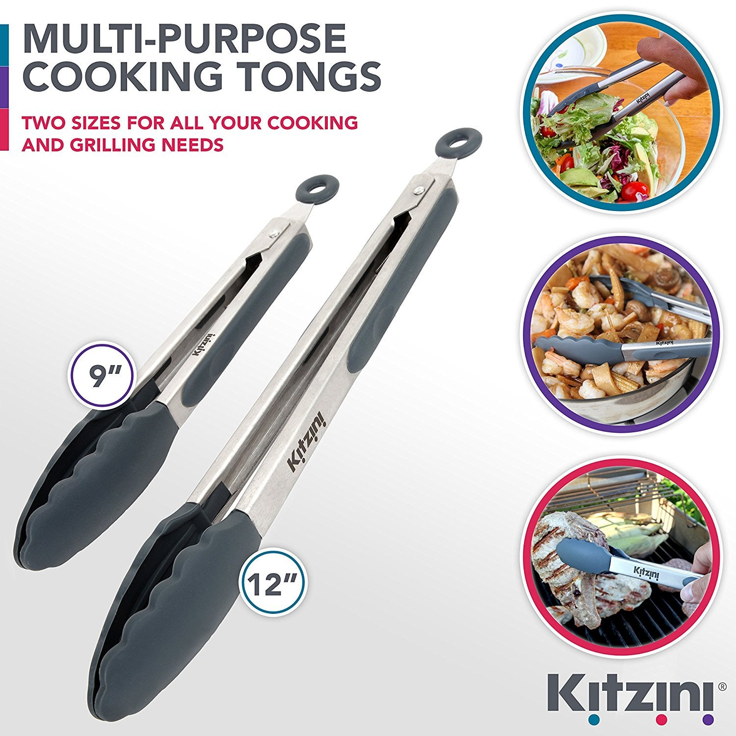 Kitzini Multi-Purpose Tongs Set