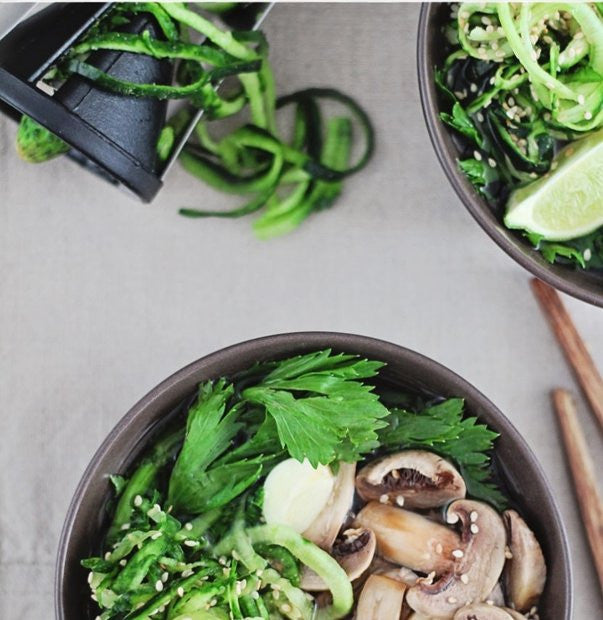 Thai Soup with Cucumber Noodles (Coodles?!)