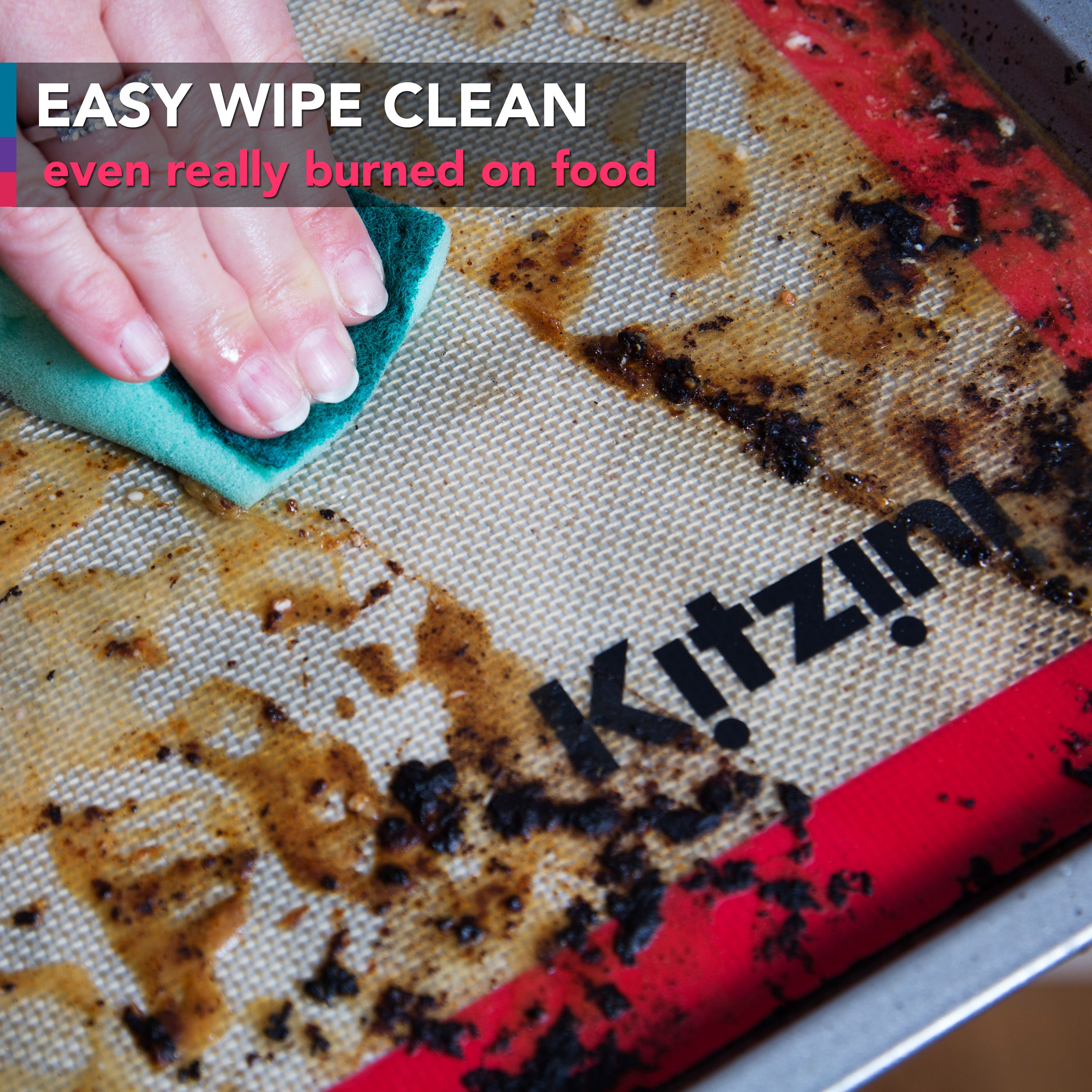 Kitzini Easy Clean Silicone Baking Sheets