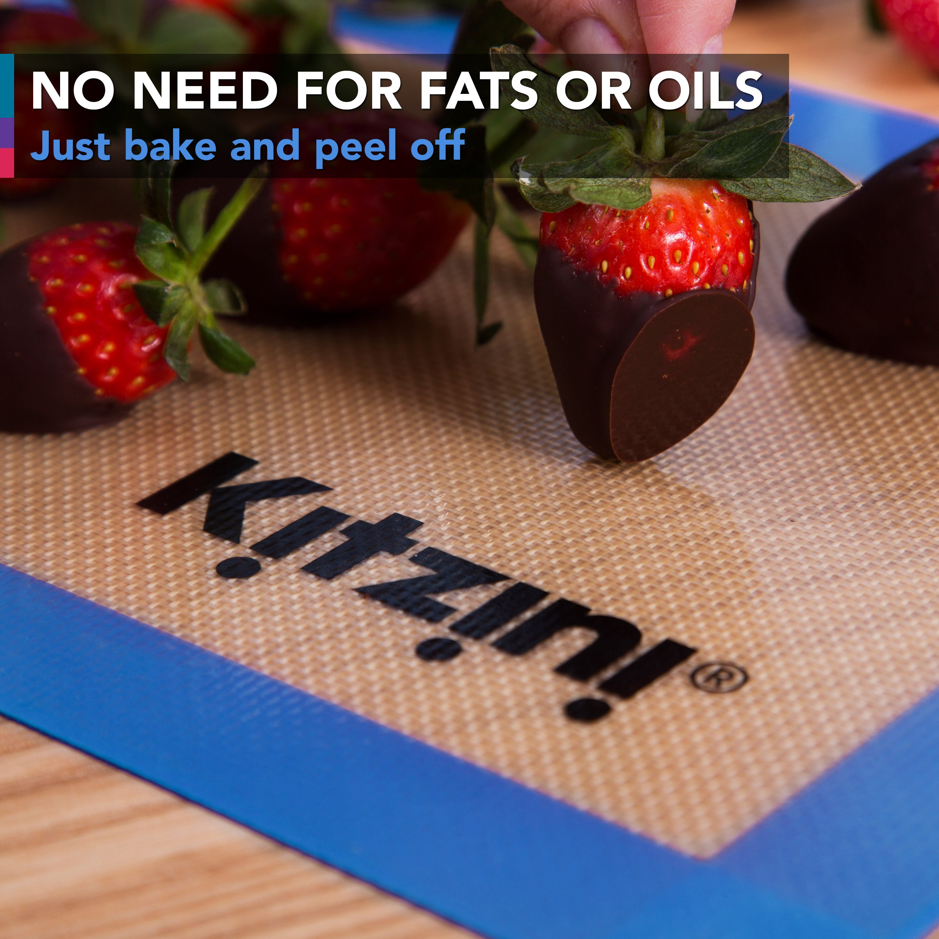 Kitzini Healthy Eating Silicone Baking Mat