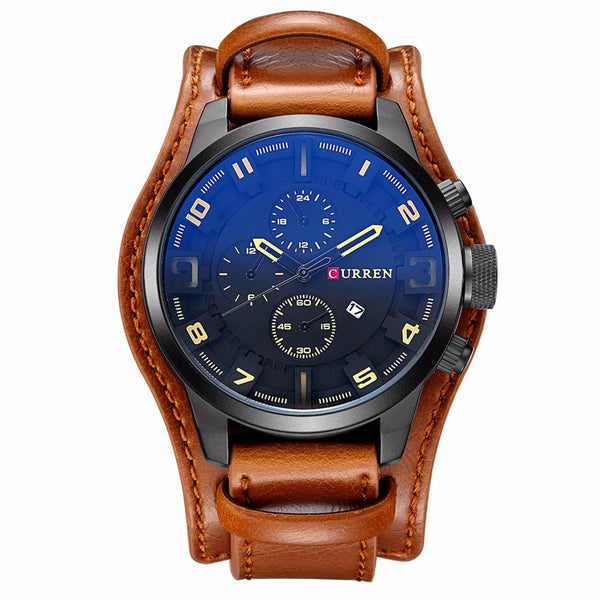 Leather Military Watch 5 Colors