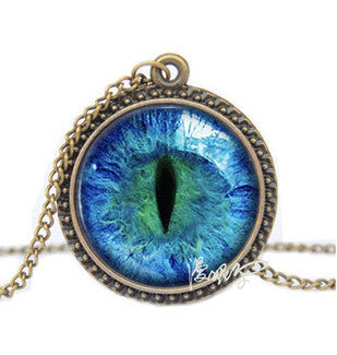 Vintage Cat Eye Necklace 12 Colors