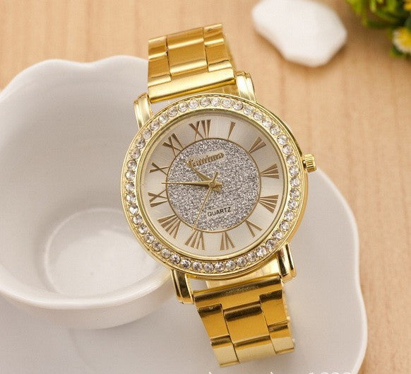 Rhinestone Glassy Watch 3 Colors