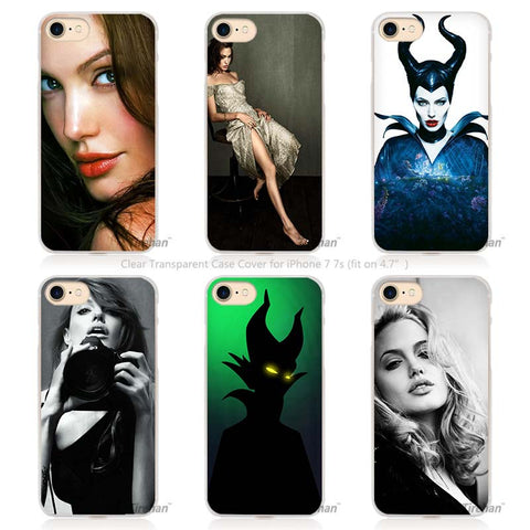 iPhone Angelina Jolie Case (4, 4s, 5, 5s, SE, 5C, 6, 6s, 7 Plus)