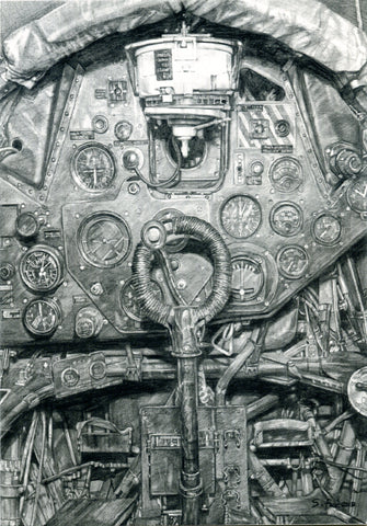Swordfish cockpit fine art print