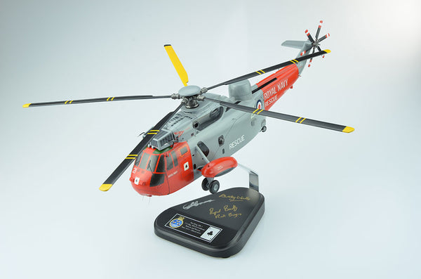 Handmade wooden model Sea kIng search and rescue