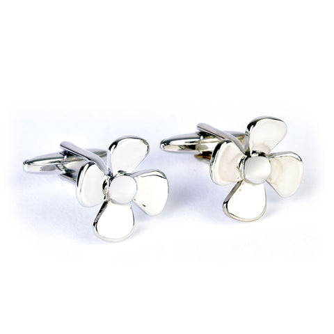 propeller cufflinks chrome gift