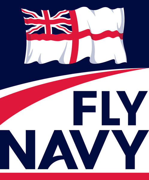 Fly Navy Royal Navy Fleet Air Arm Aircraft Carriers Sticker White Ensign