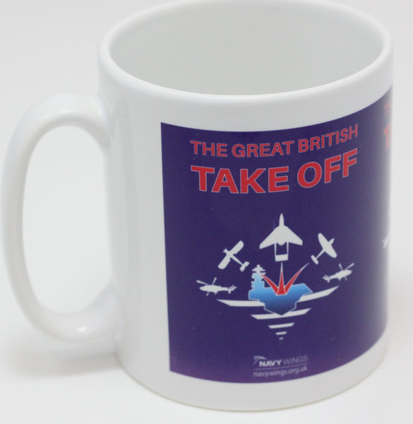 The Great British Take Off Mugs. Add a smile to your cup of coffee.