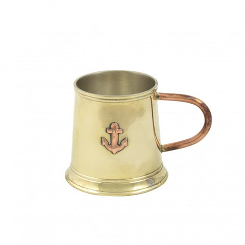 Solid Brass & Copper Navy Tot Tankard