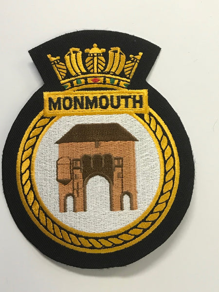 Royal Navy Ship embroidered Crest Badges