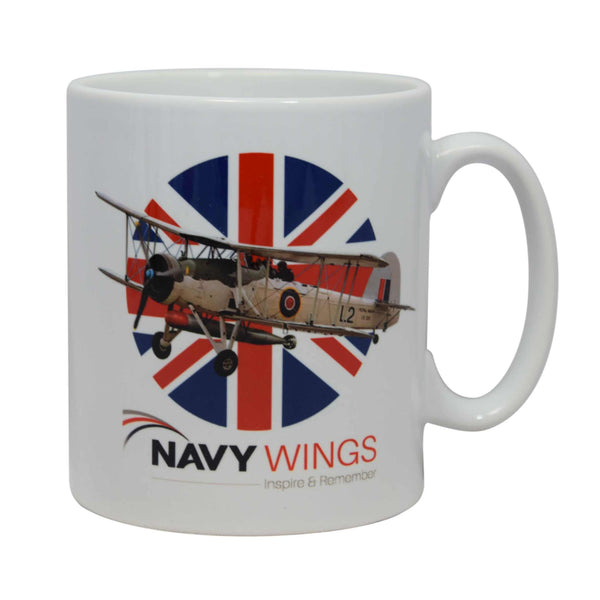 'Made in Britain' Mugs - Classic British aircraft and the Union Flag.