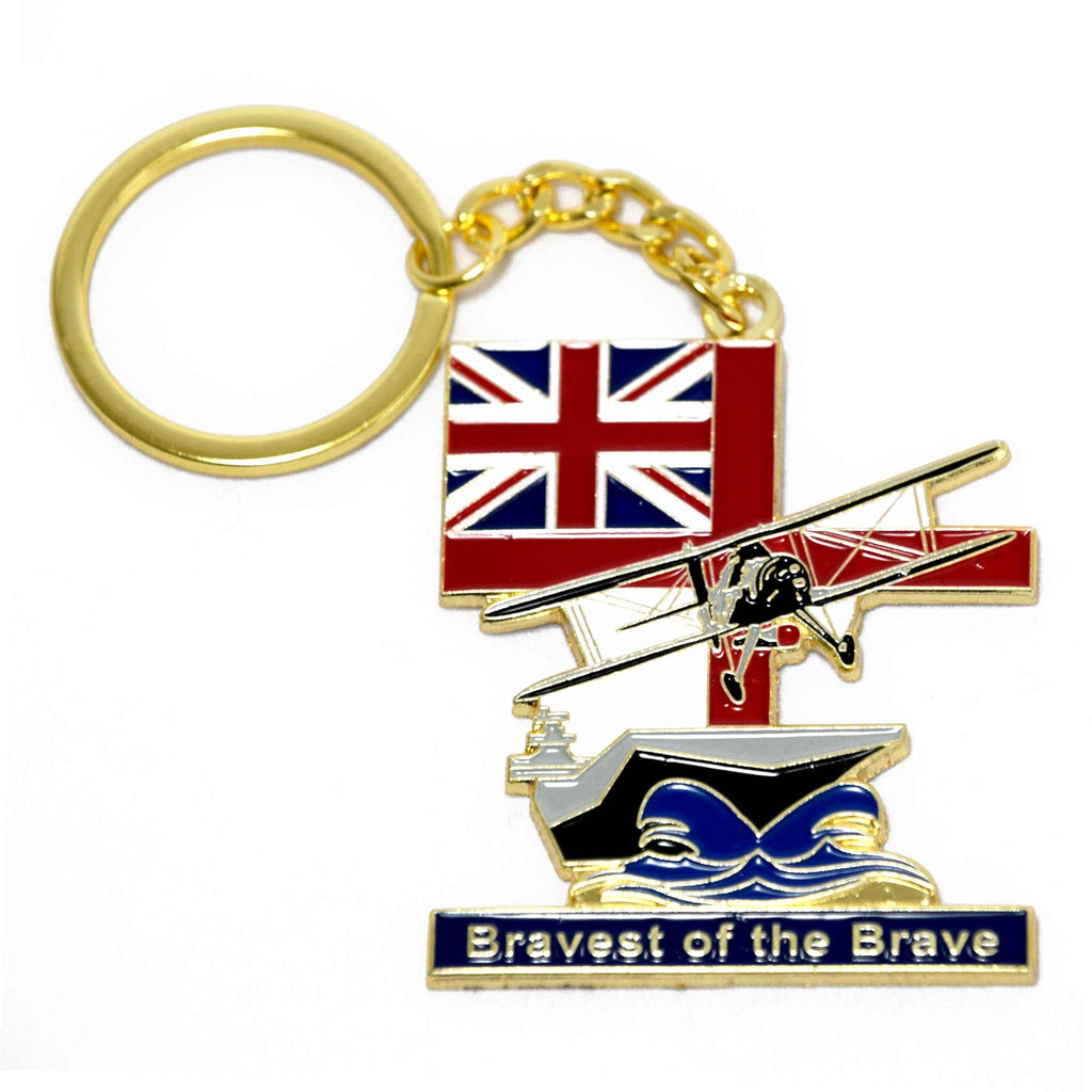 Bravest of the Brave. Commemorating the endeavour and achievements of the Fleet Air Arm, Mugs, enamel badge, patch and keyring.