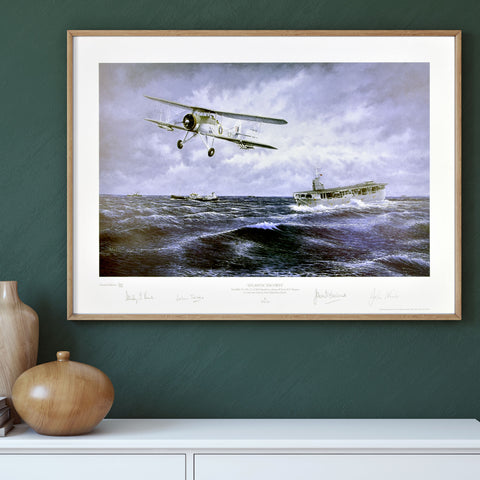 Atlantic Escorts - Veteran Swordfish crew signed Limited edition print