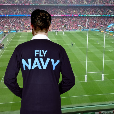 Navy Wings Traditional Rugby Shirt - Fly Navy