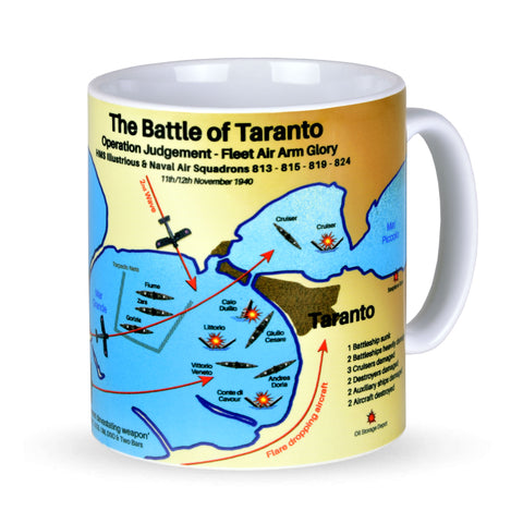 Navy Wings Battle of Taranto Commemorative Mug and Table mat