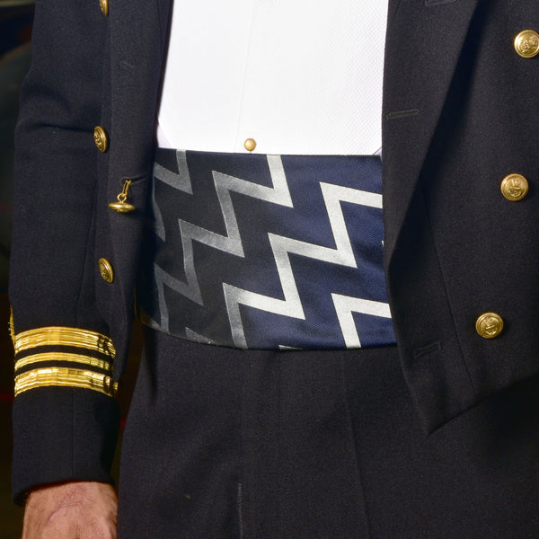 Fleet Air Arm silk Zigzag cummerbund