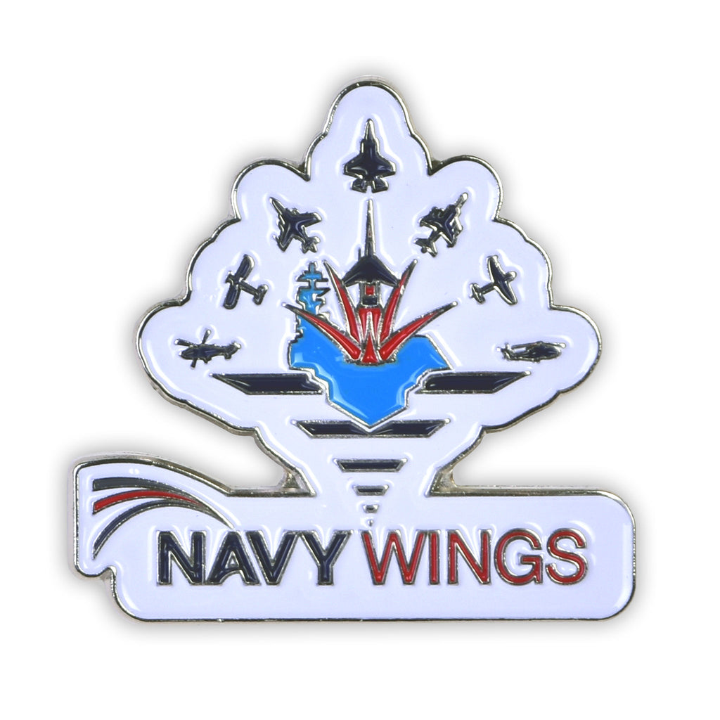 navy wings enamel pin badge gift accessory great british take off gbto