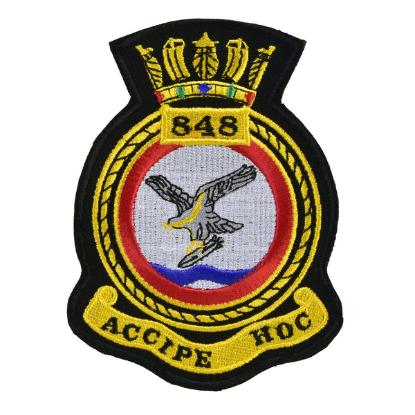 Naval Air Squadron & other embroidered Crest Badges