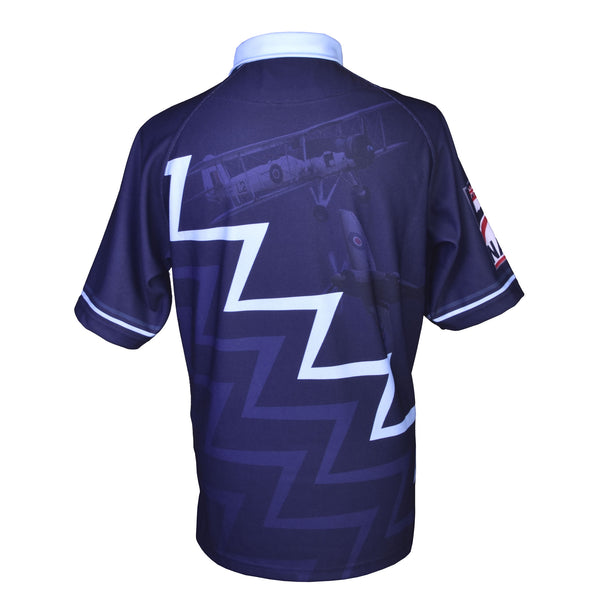 'Navy Wings' ZigZag Rugby Shirts, featuring Sea Vixen, Swordfish and Sea Fury.