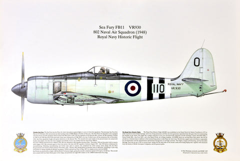 Sea Fury FB11 VR930 802 Squadron Fleet Air Arm