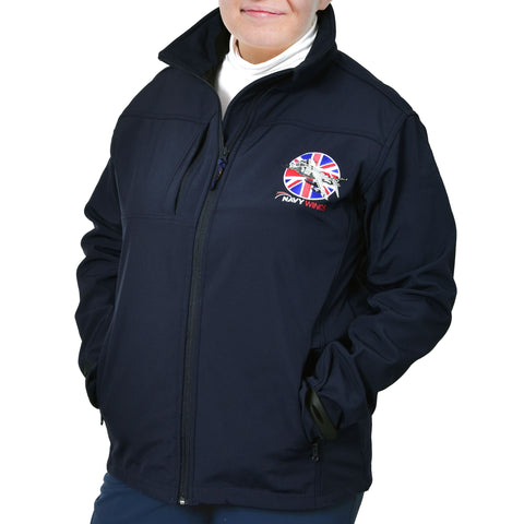 'Made in Britain' series Navy Wings Soft Shell jacket. Comfortable and versatile.