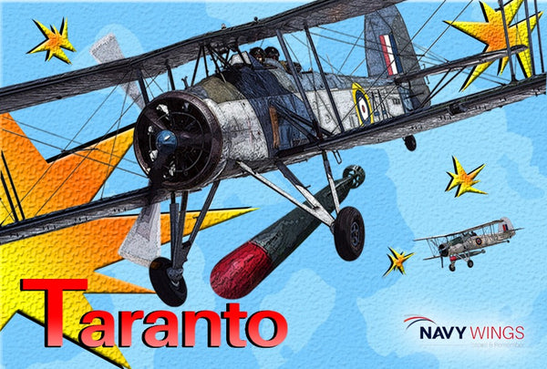 Navy Wings Swordfish Action fridge magnets - Taranto, Bismarck & Channel Dash
