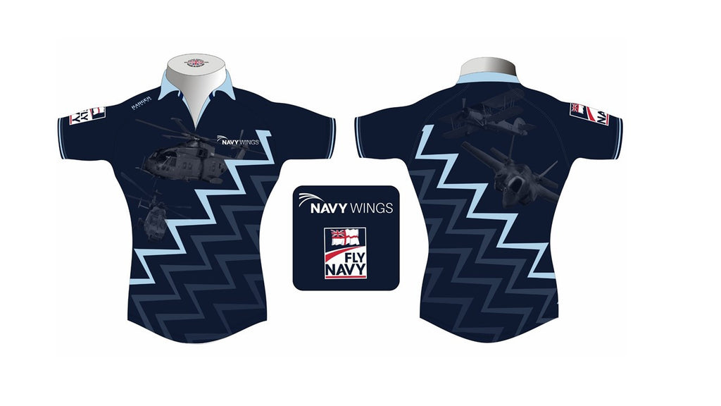 Navy Wings Rugby shirt Lynx/Merlin & Swordfish/F35