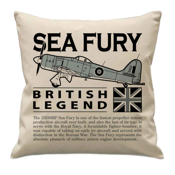Aircraft icon cushions - Swordfish, Sea Fury, Sea Vixen, Sea Harrier, Phantom, Buccaneer, Sea King, Wessex & Wasp