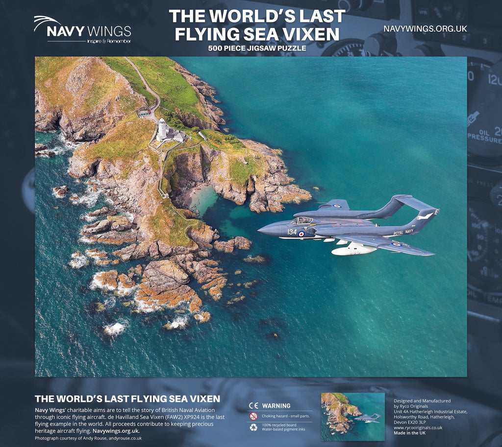 Sea Vixen XP924 over Start Point - 500 piece jigsaw